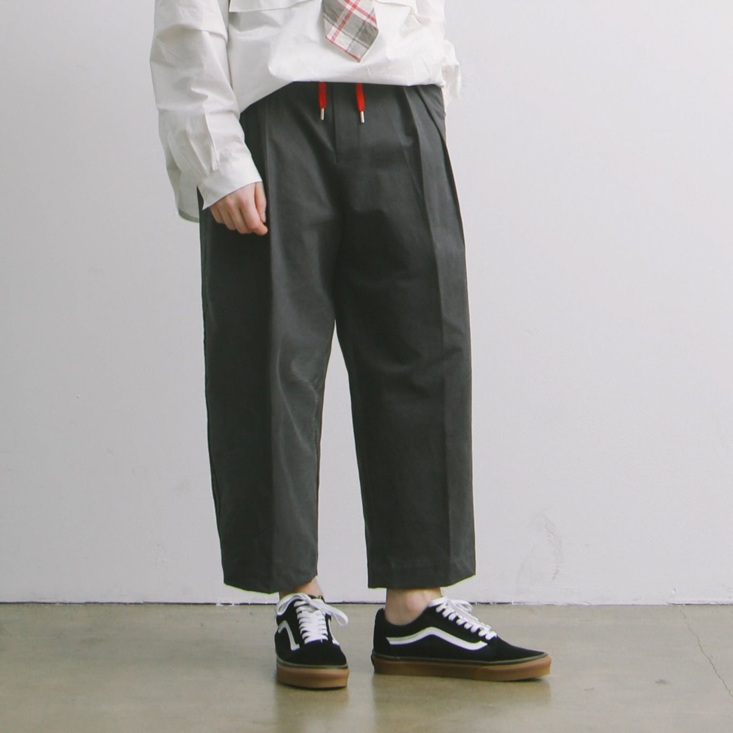 Lobby Boy Wide Tapered Easy Pants (Ash)