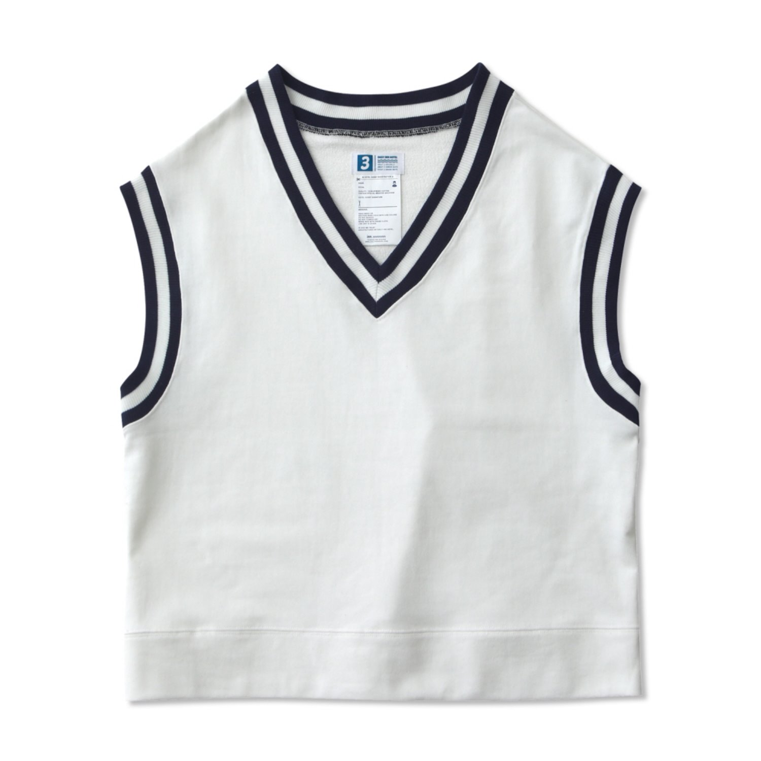 Lobby Boy Oversized Uniform Cotton Vest (White)