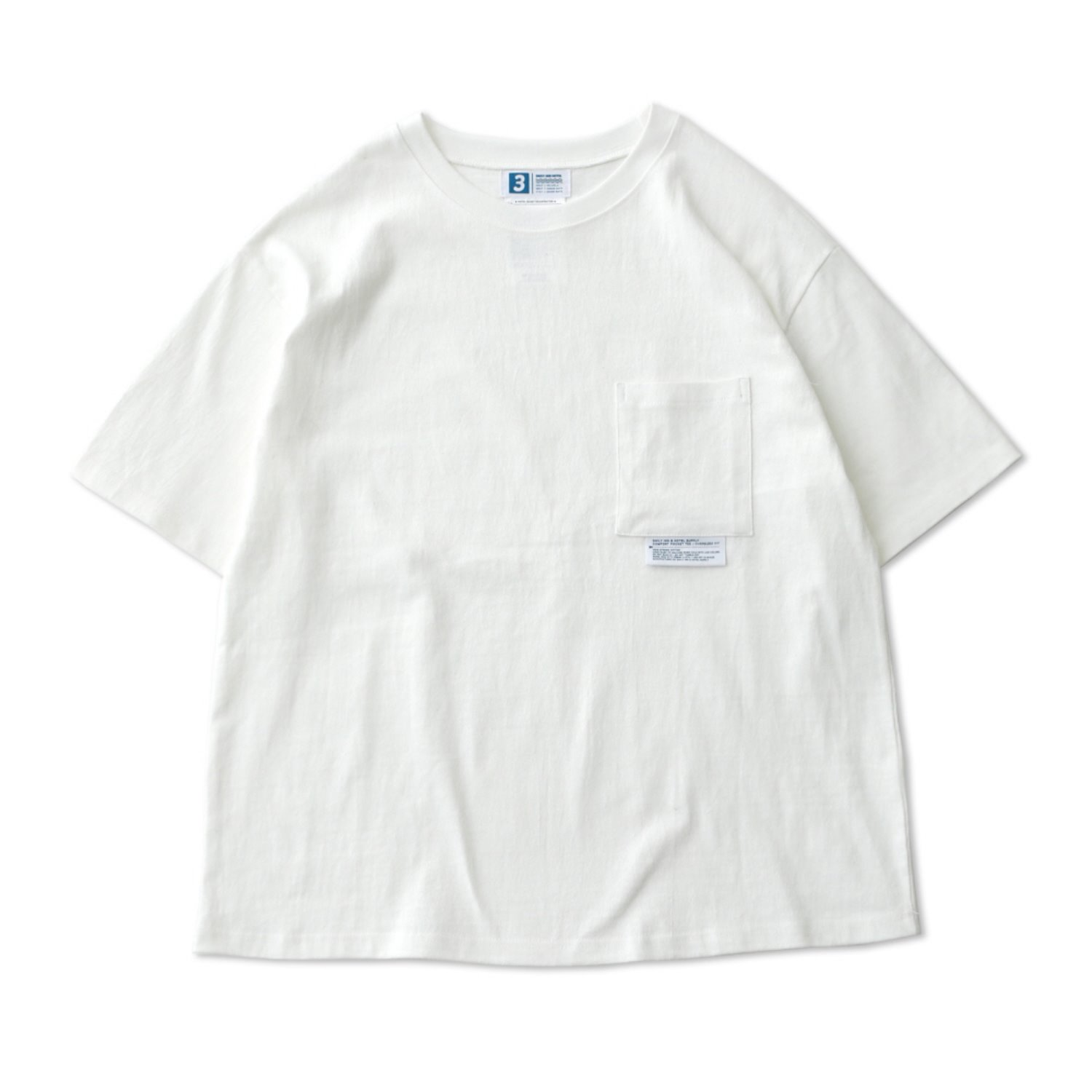 DailyInn Tourist Comfortable Oversized Pocket Tee (White)