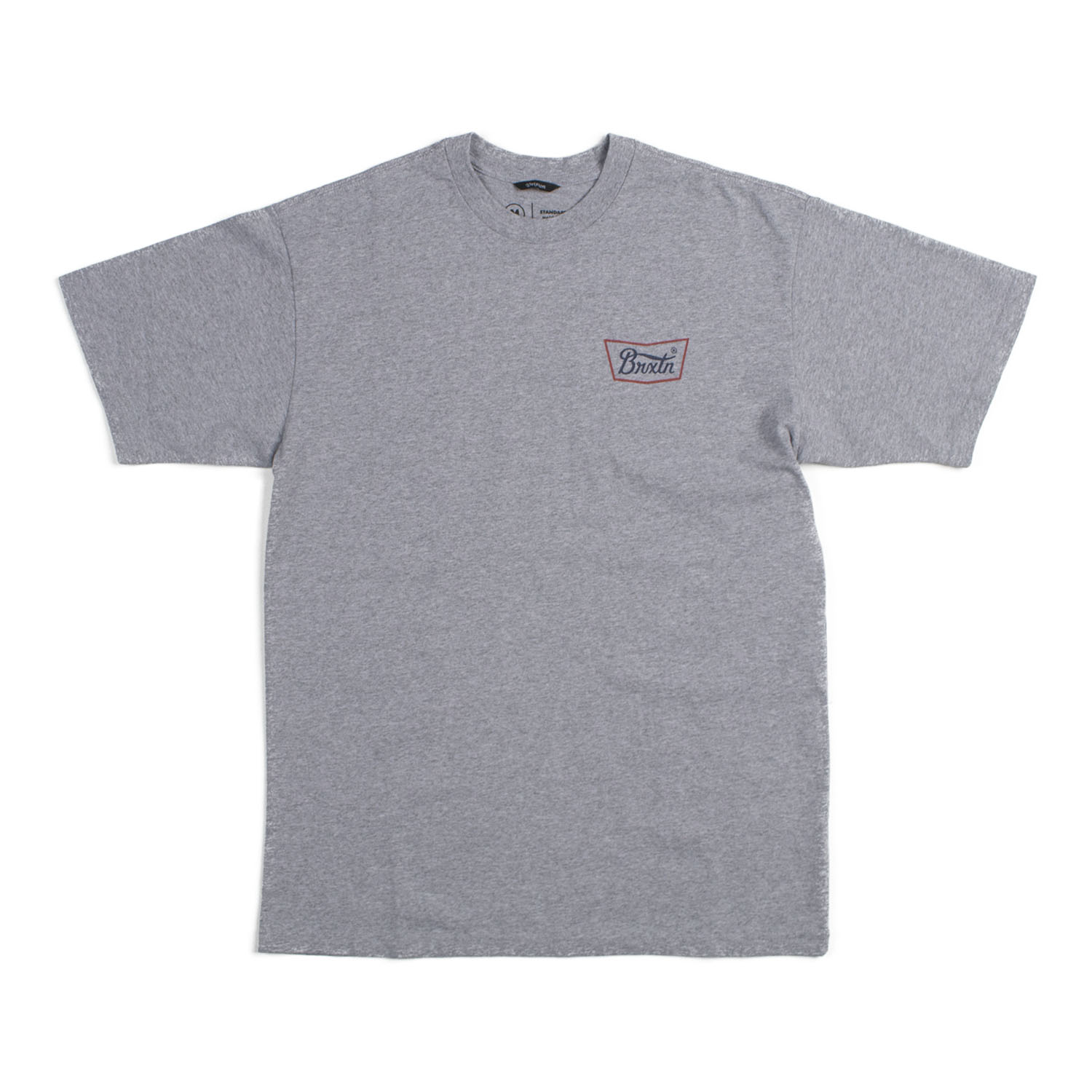 Brixton Stith S/S STND Tee (Heather Grey / Red / Blue)