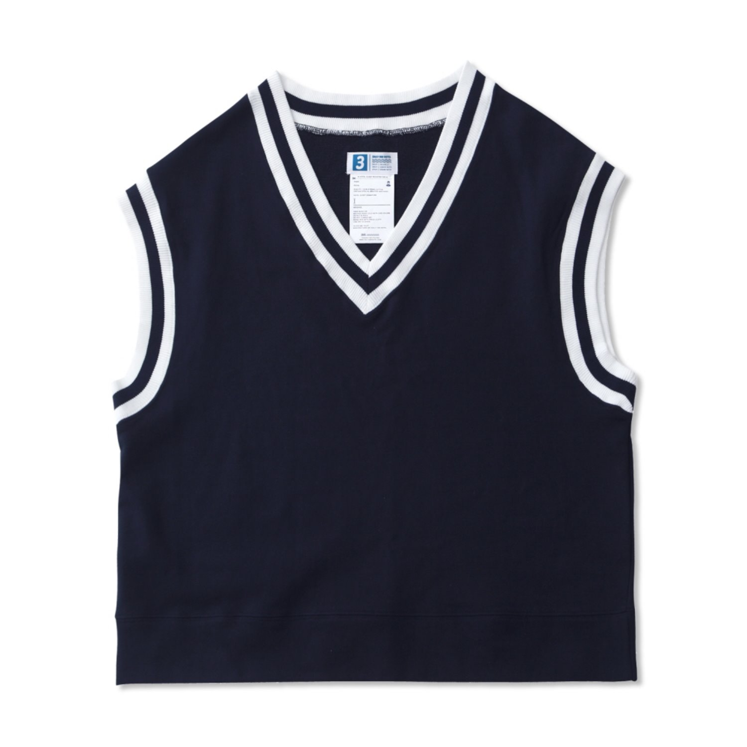 Lobby Boy Oversized Uniform Cotton Vest (Navy)