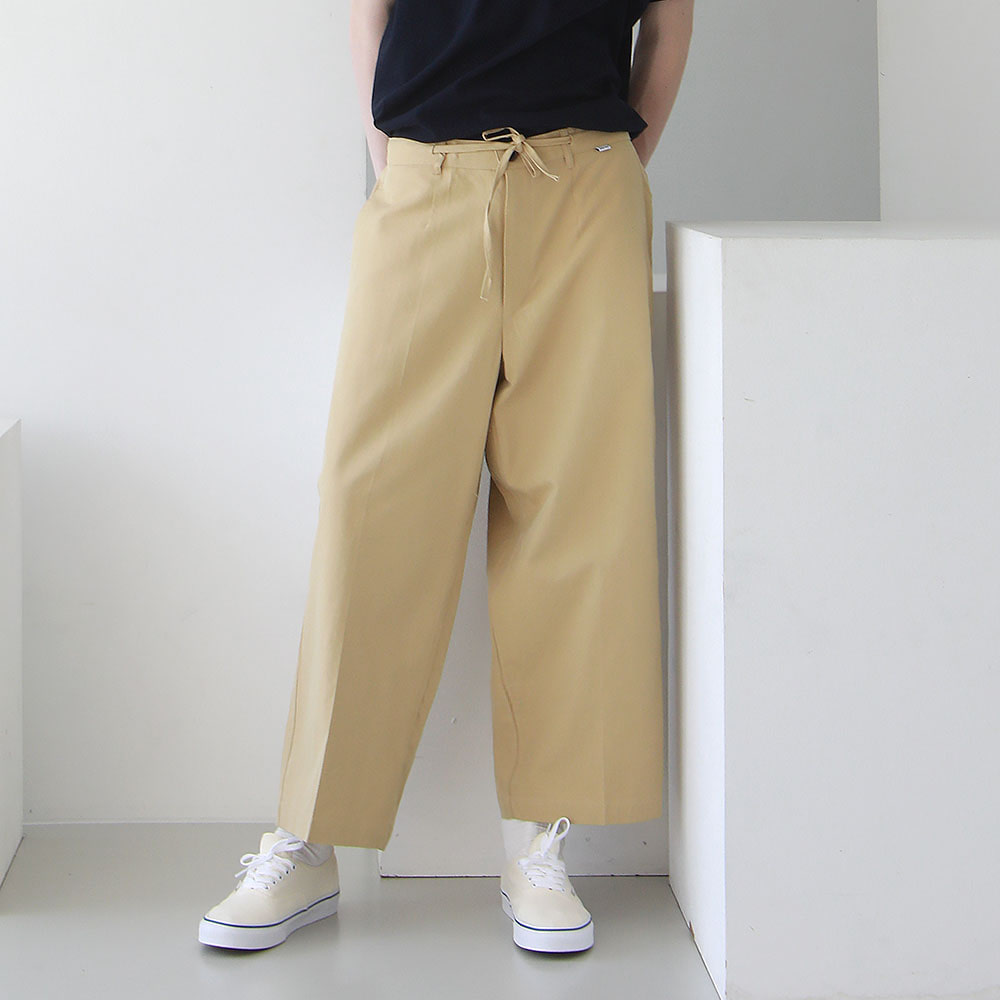 ¡che che! Soft Cotton Wide Easy Pants (Nacho)