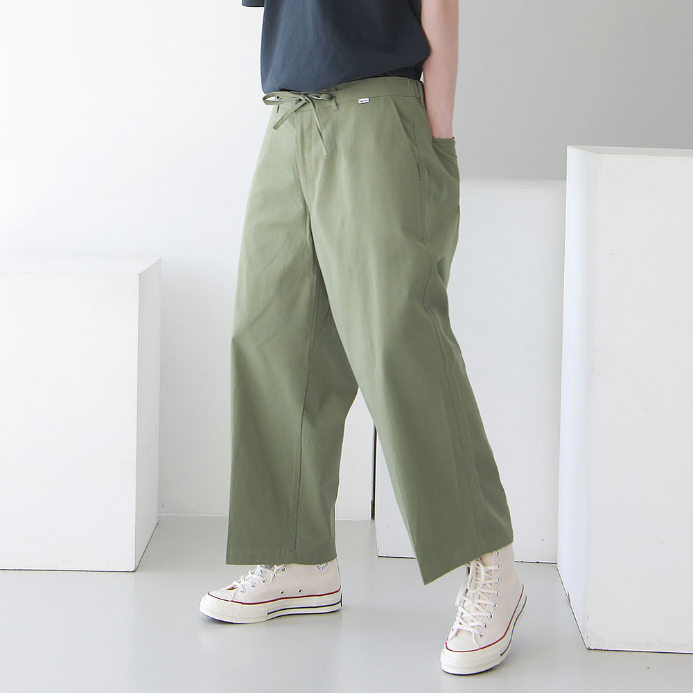 ¡che che! Soft Cotton Wide Easy Pants (Guacamole)