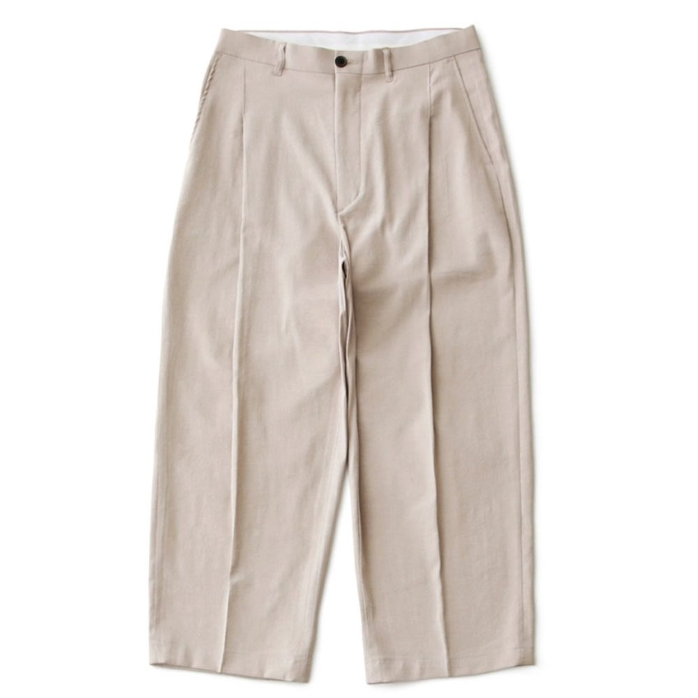 Reception Linen Wide Set-Up Pants Type 3 (Cream)