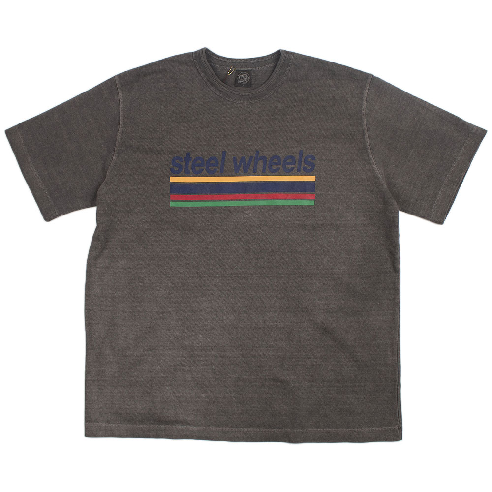 Summer Dyed Logo T Shirts (Gray)