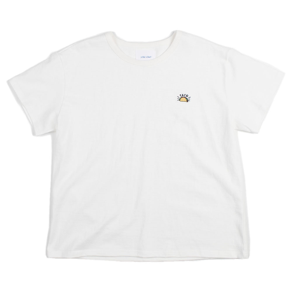 ¡che che! Taco Needlepoint  T-Shirts (White)