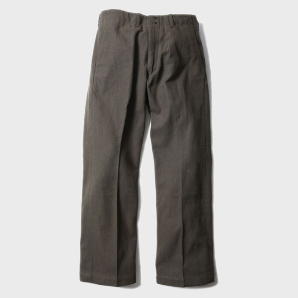 Brooklyn Wool Trousers (Olive)