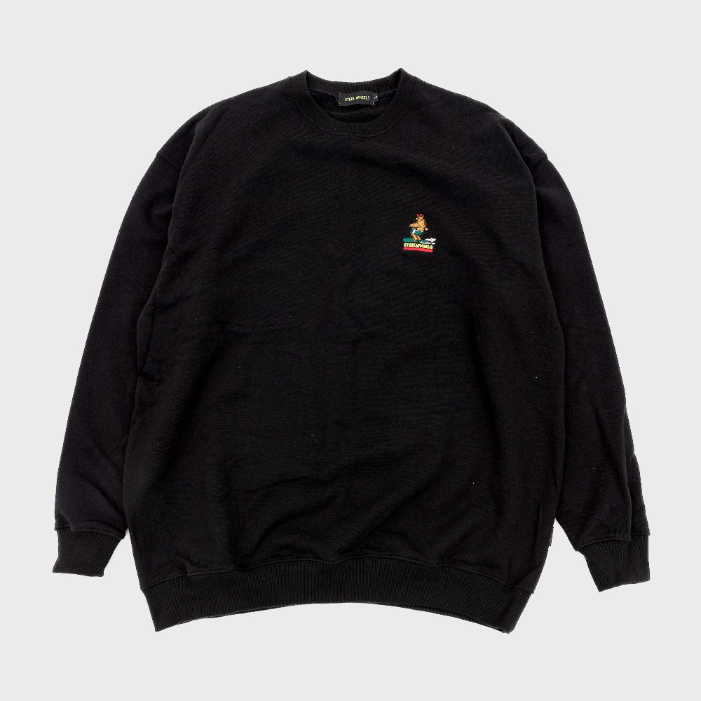 Surf Bear Crew Neck (Black)