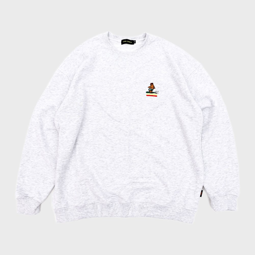 Surf Bear Crew Neck (White)