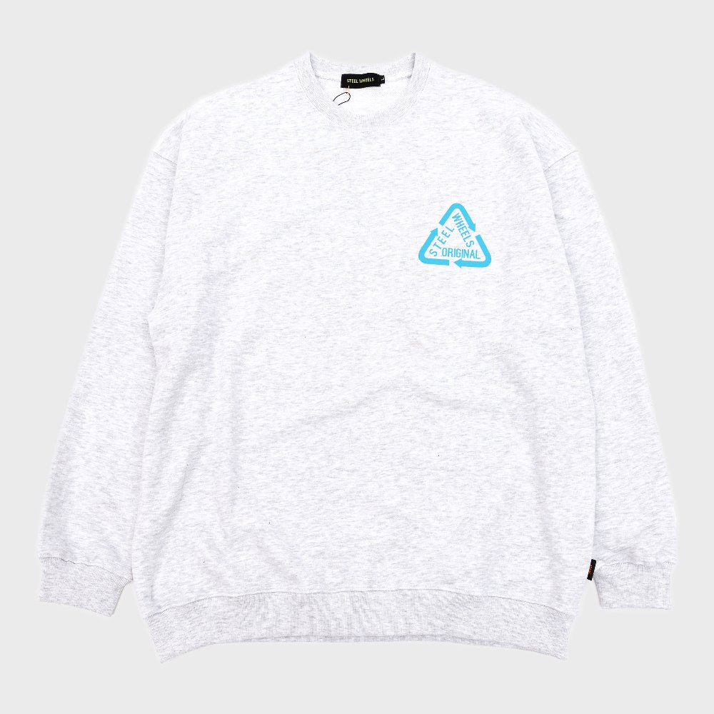 Reflective Crew Neck (White)