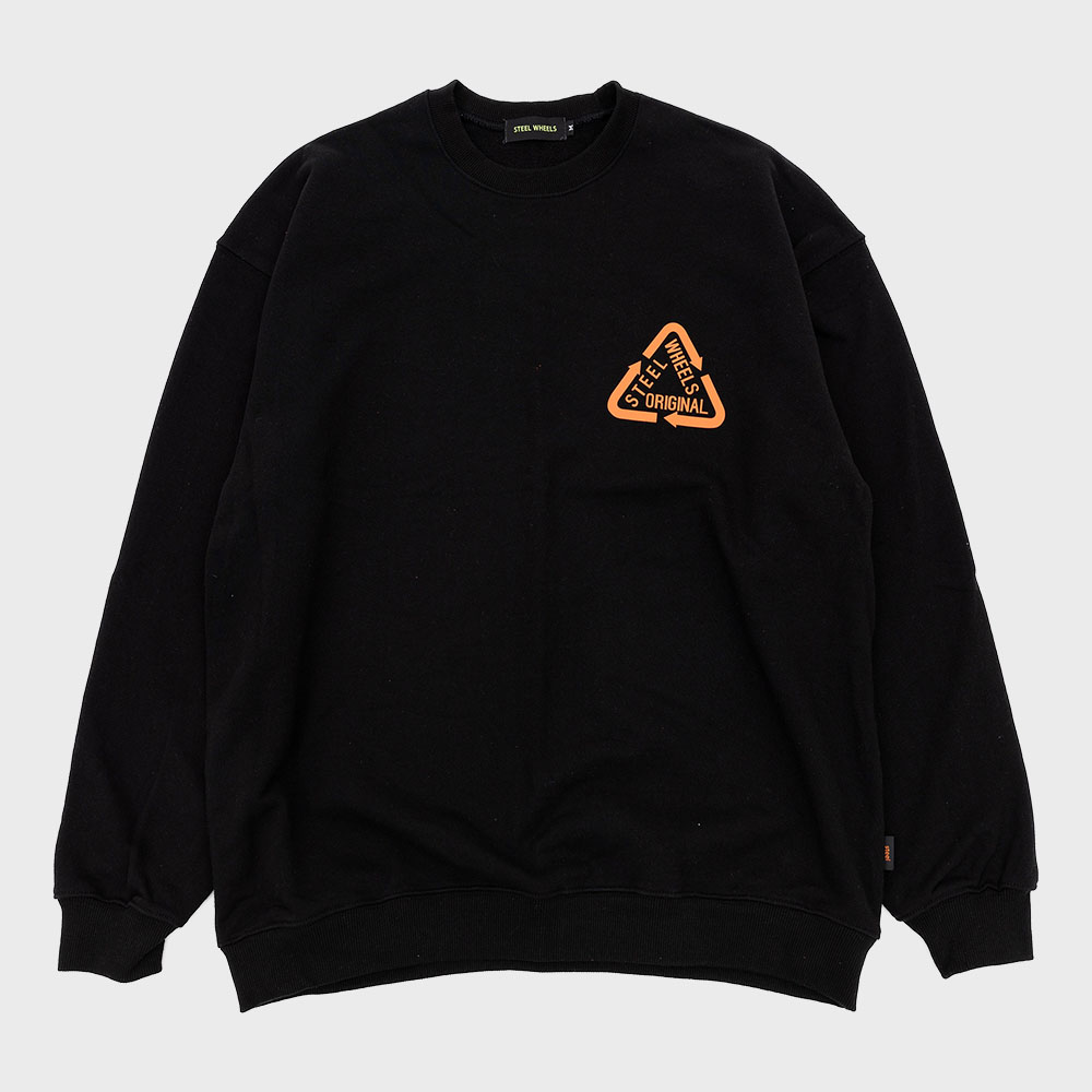 Reflective Crew Neck (Black)