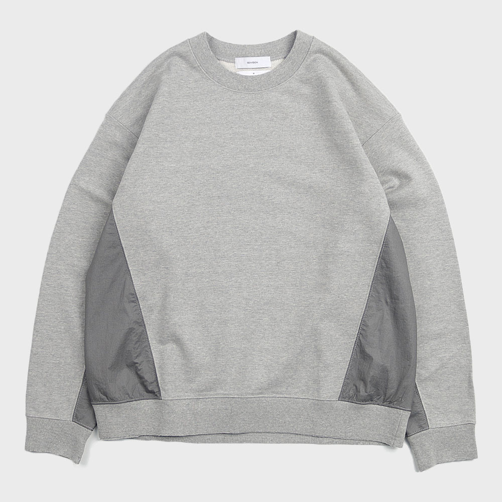 Mixed Crewneck Sweat (Grey)