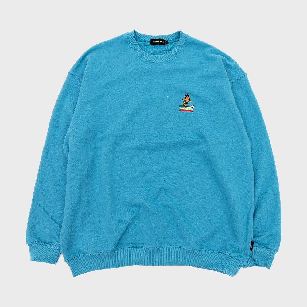 Surf Bear Crew Neck (Blue)