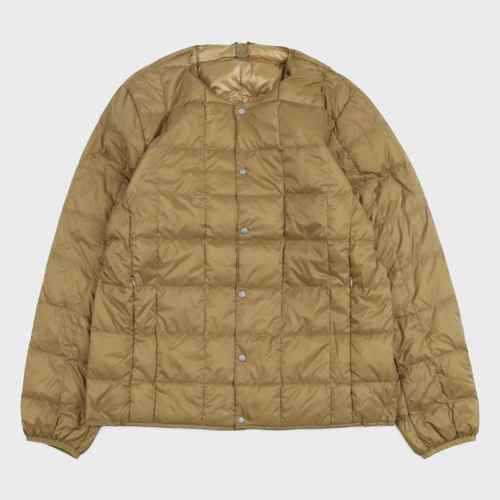 Crew Neck Button Down Jacket TAION-104 (Beige - Unisex)