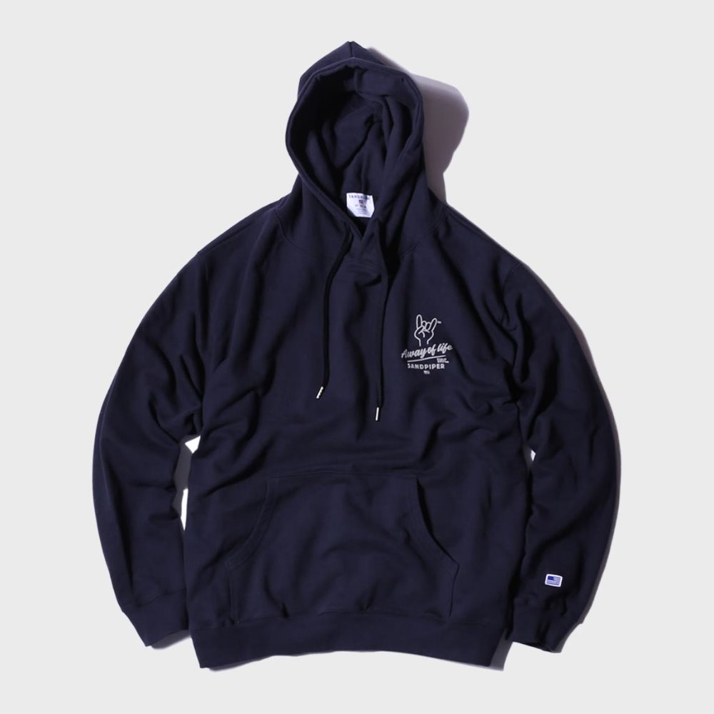 Finger Signature Hoodie (Fade Navy)
