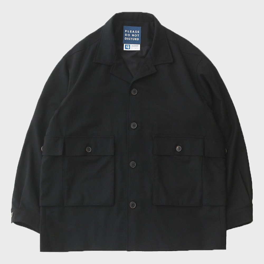 Hotel Mechanic Oversized Multi 4P Wool Jacket (EBONY BLACK)
