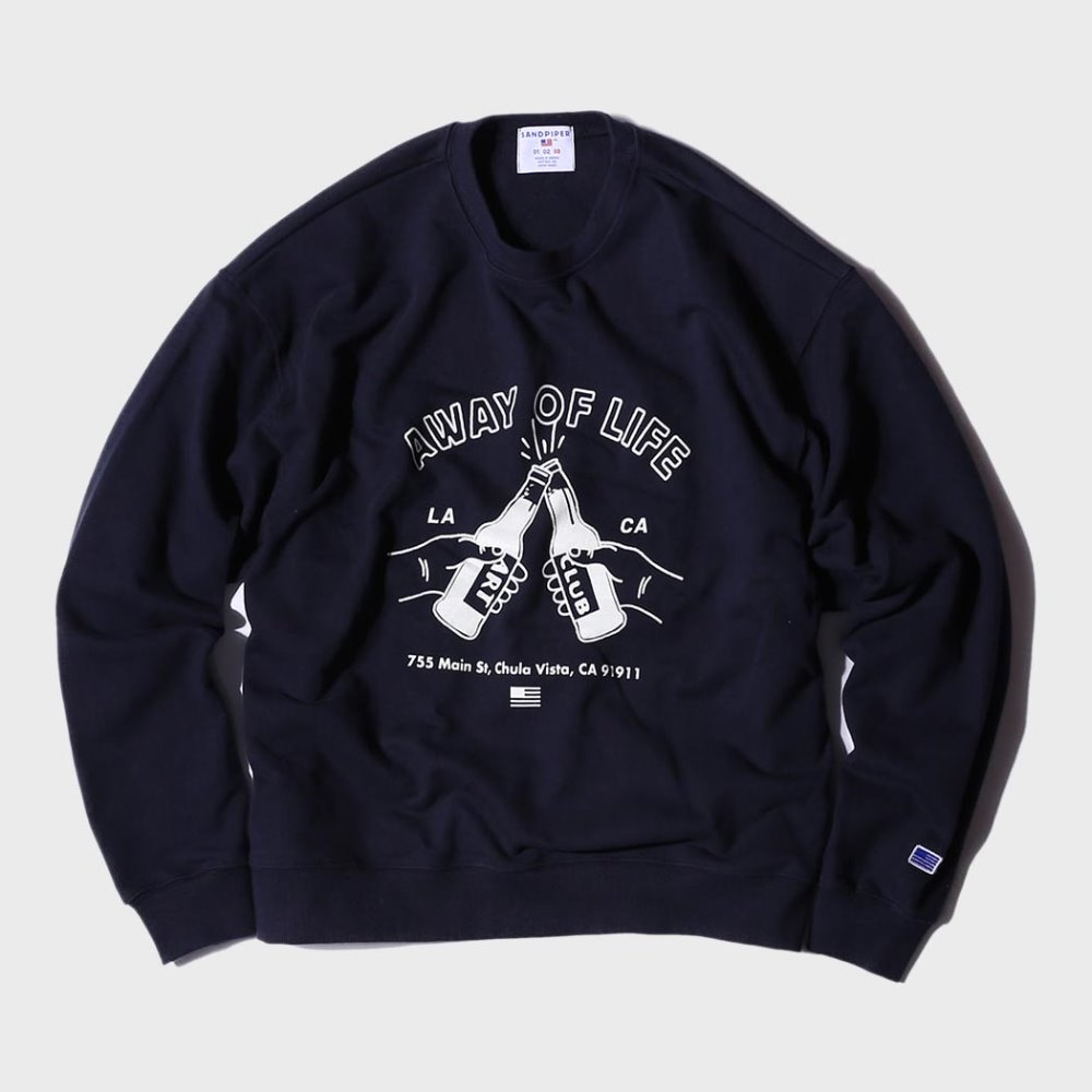 Beer Party Sweat Shirts (Fade Navy)