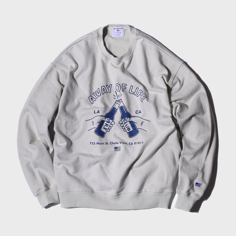 Beer Party Sweat Shirts (Silver Grey)