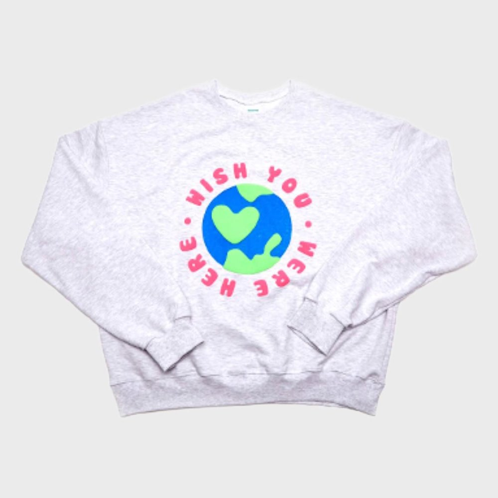 Wish Sweat Shirts (White Melange)