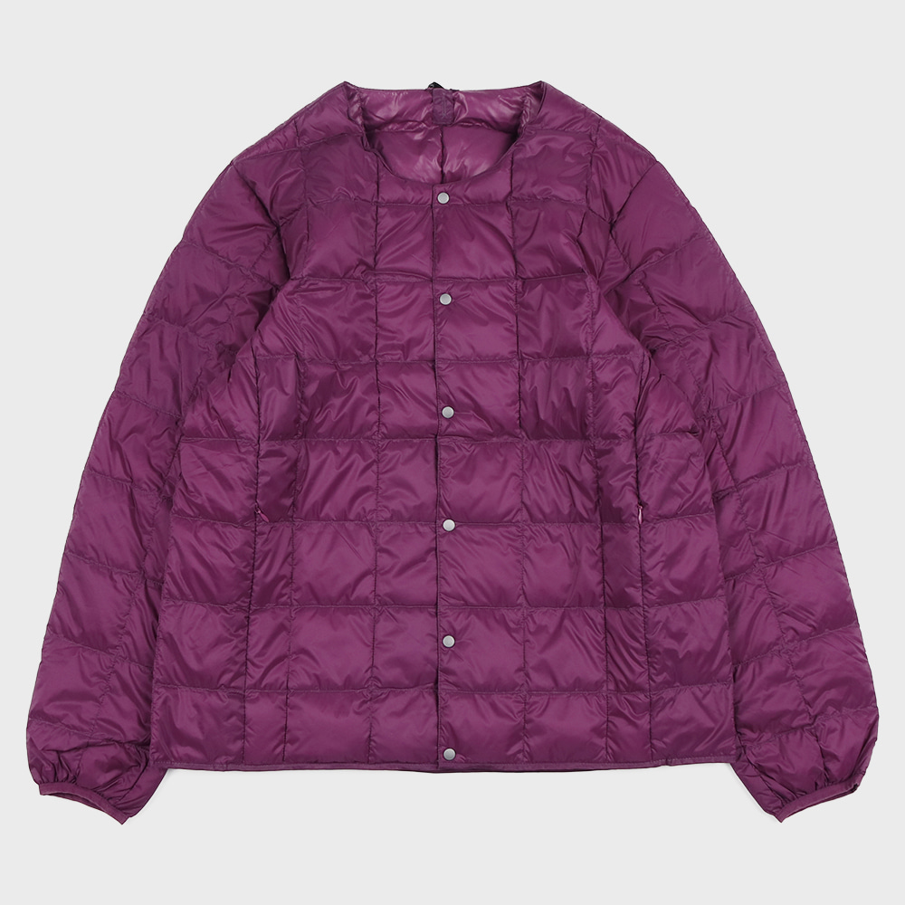 Crew Neck Button Down Jacket TAION-104 (Purple - Unisex)