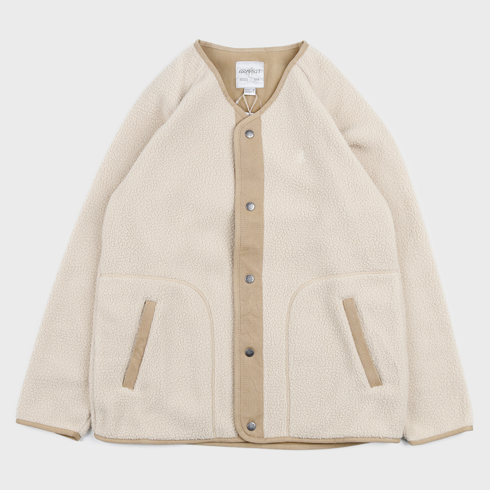 Boa Fleece Jacket (Ivory)