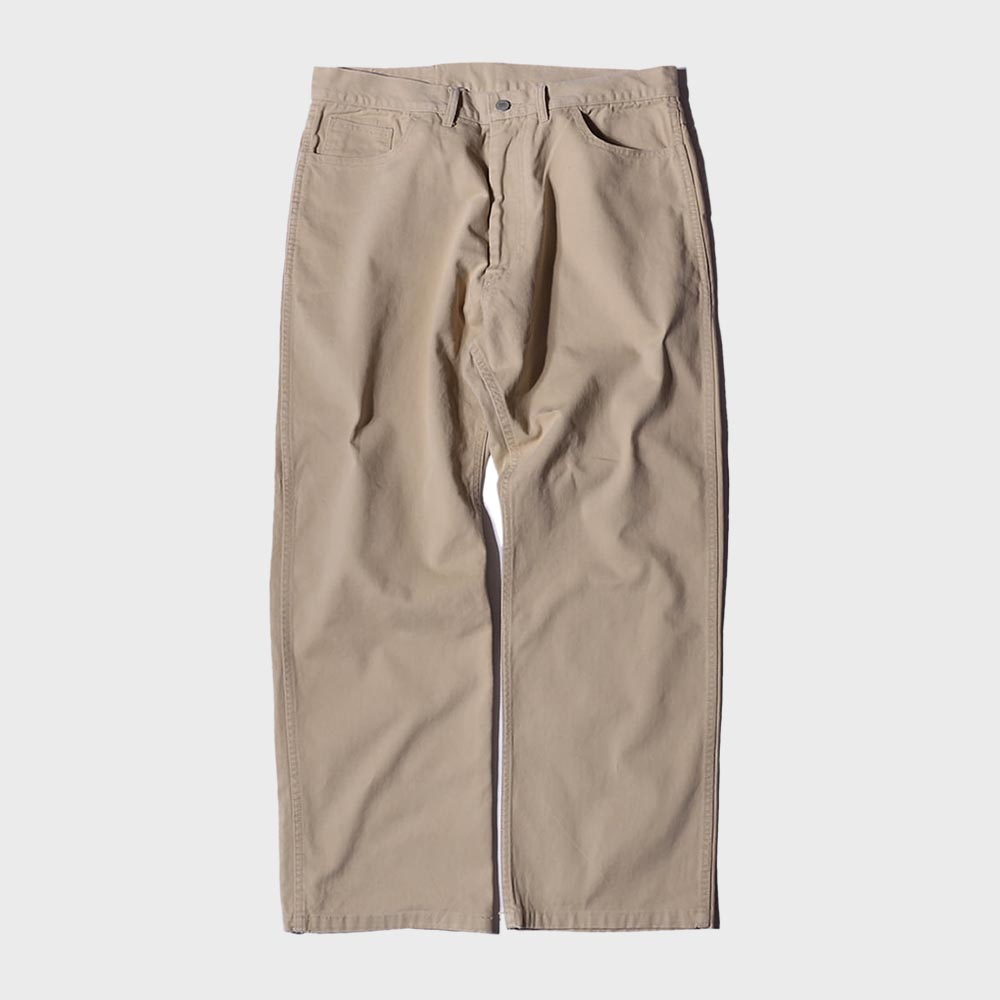 Stone Washed Cotton Pants (Beige)