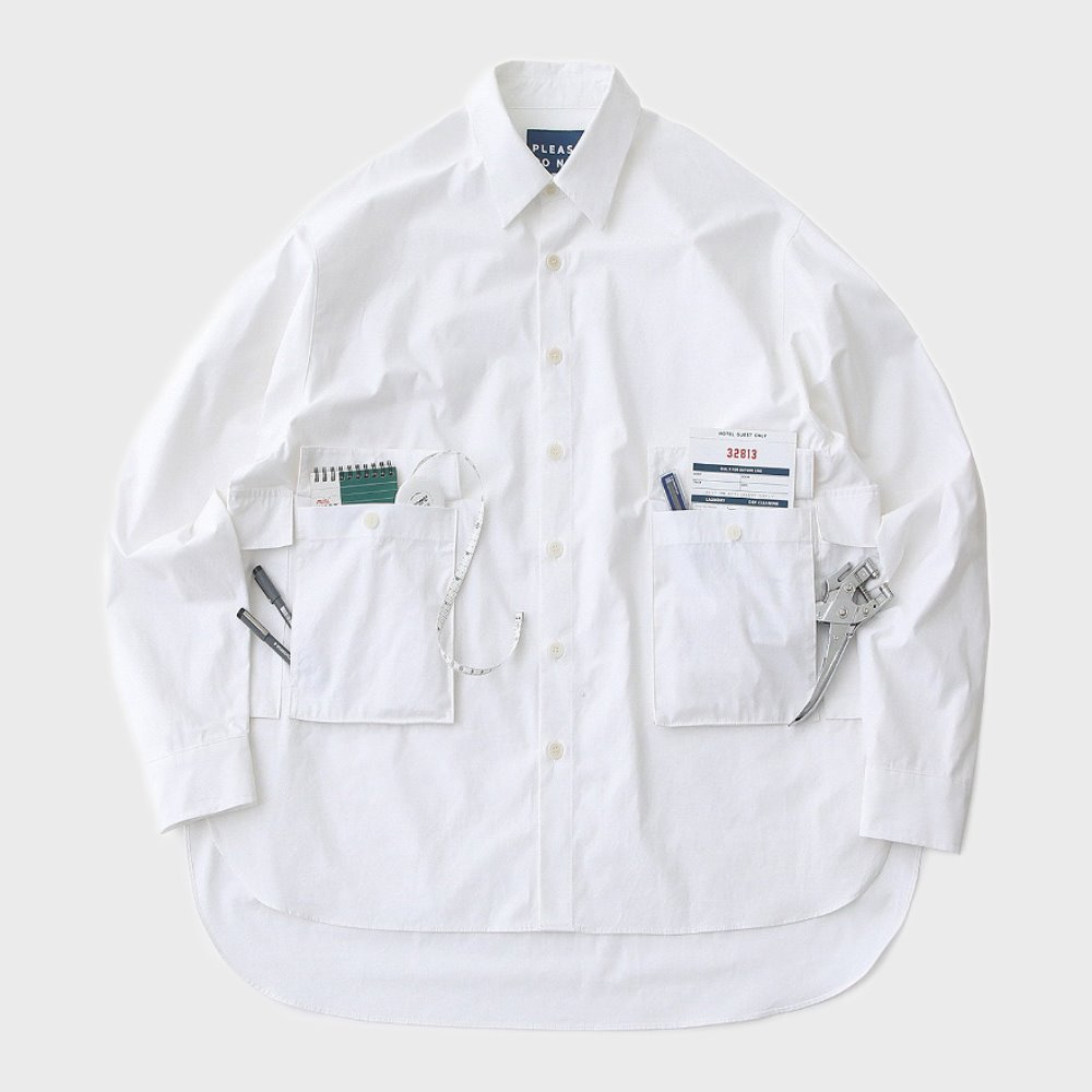 Hotel Mechanic Oversized Multi 4P Shirts (White)