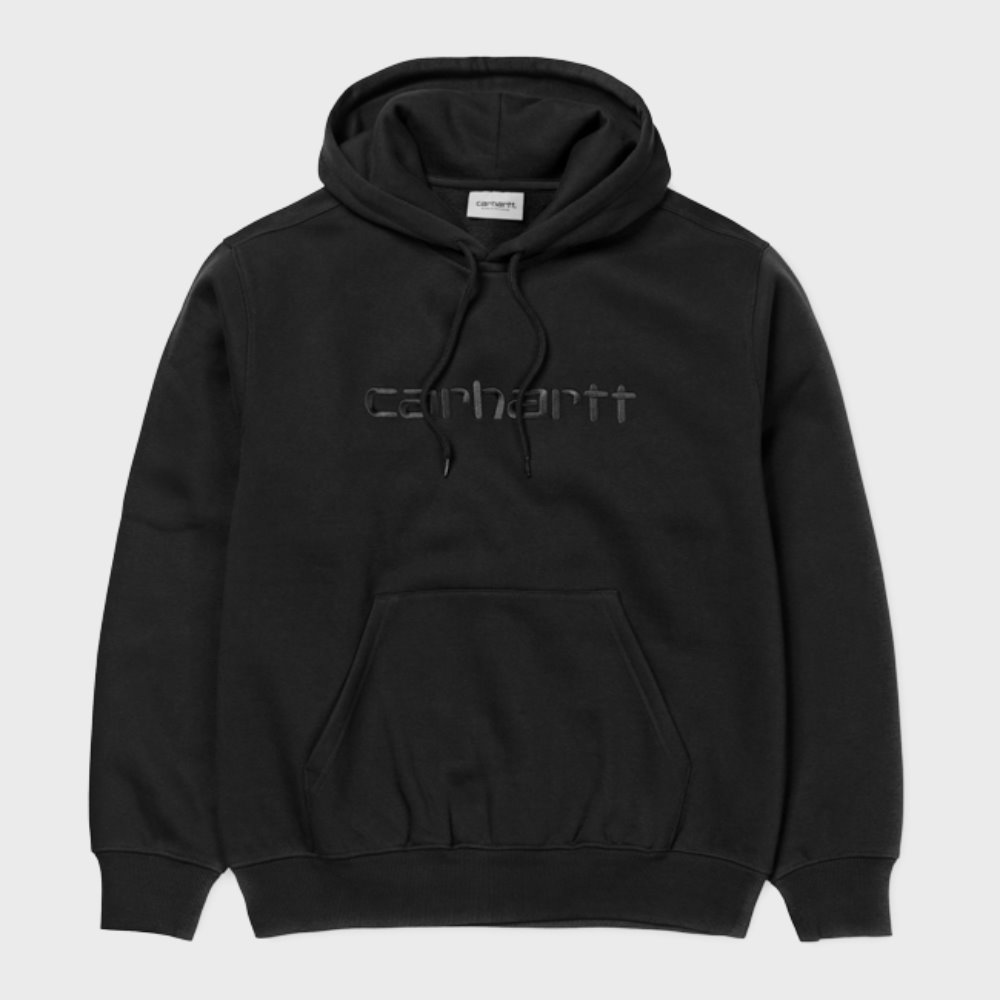 Hooded Carhartt Sweatshirts (Black / Black)