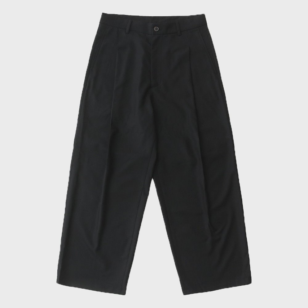 Hotel Set-Up Wide Wool Pants (EBONY BLACK)