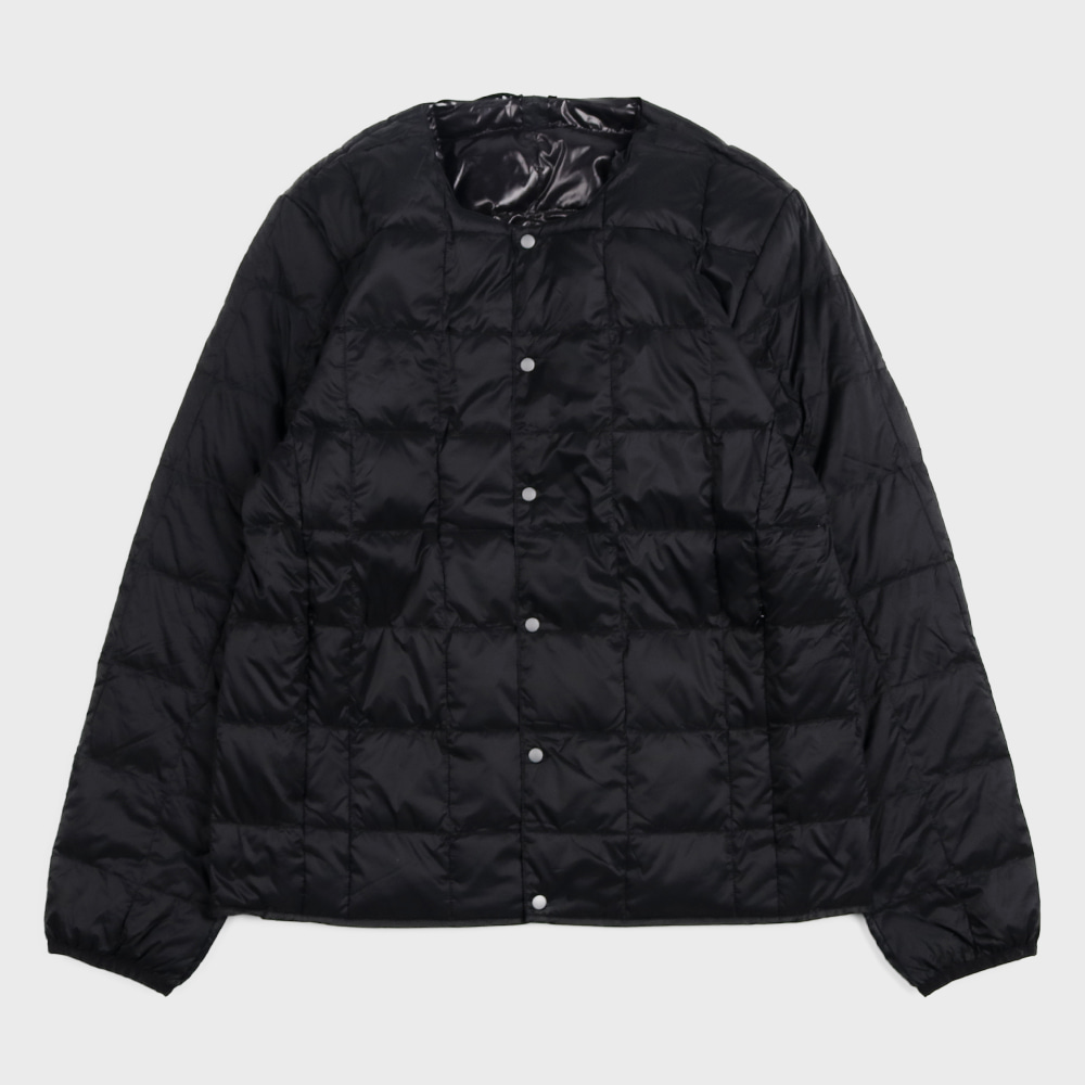 Crew Neck Button Down Jacket TAION-104 (Black - Unisex)