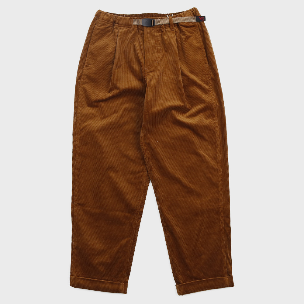 Coduroy Tuck Tapered Pants (Camel)