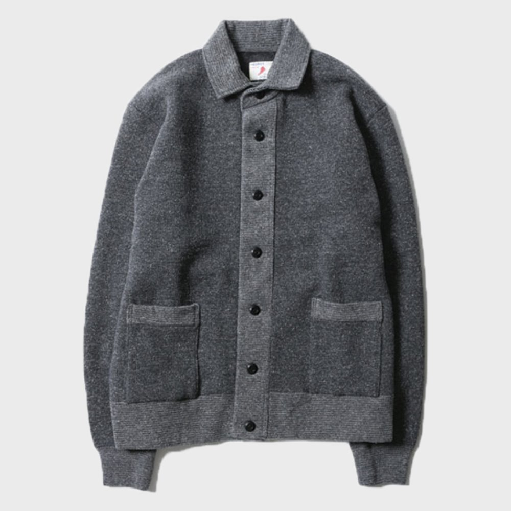 Salt&Pepper Button Sweat Jacket (Gray Mix) 11월 첫째주 배송예정
