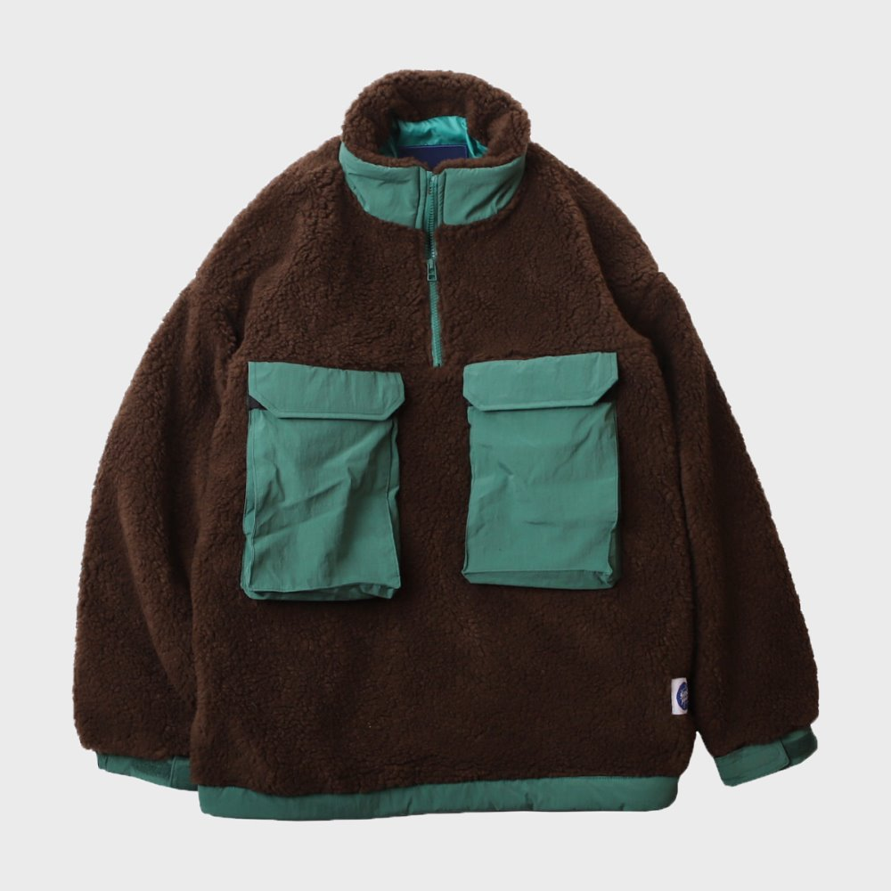 Boa Fleece Anorak (Brown)