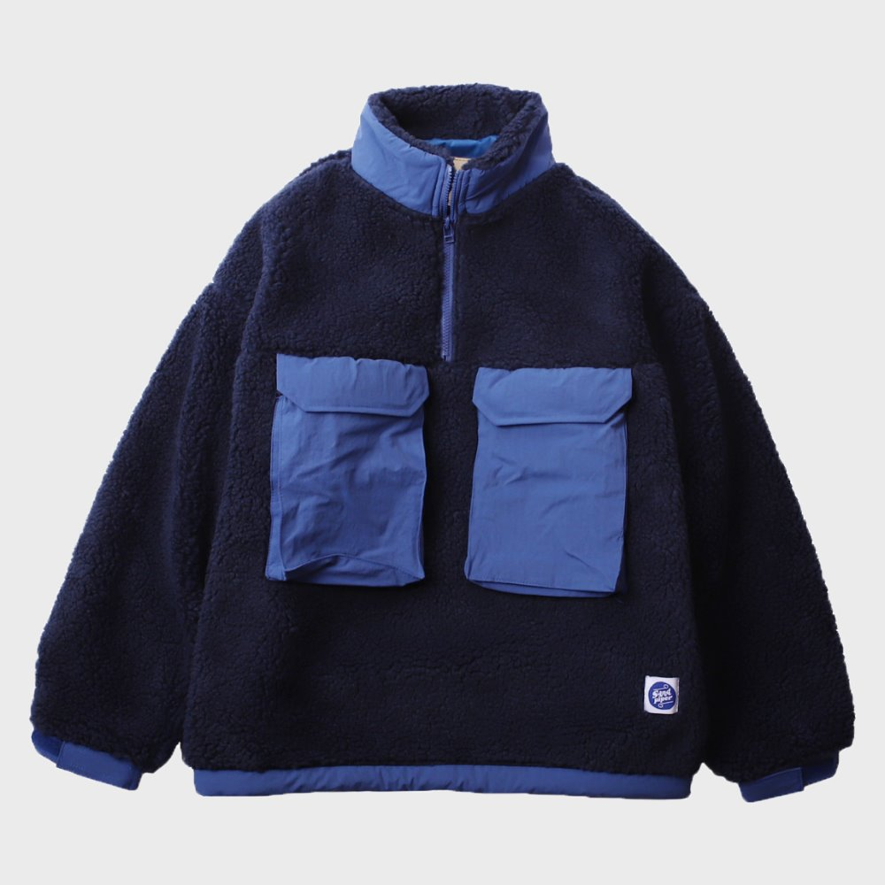 Boa Fleece Anorak (Navy)