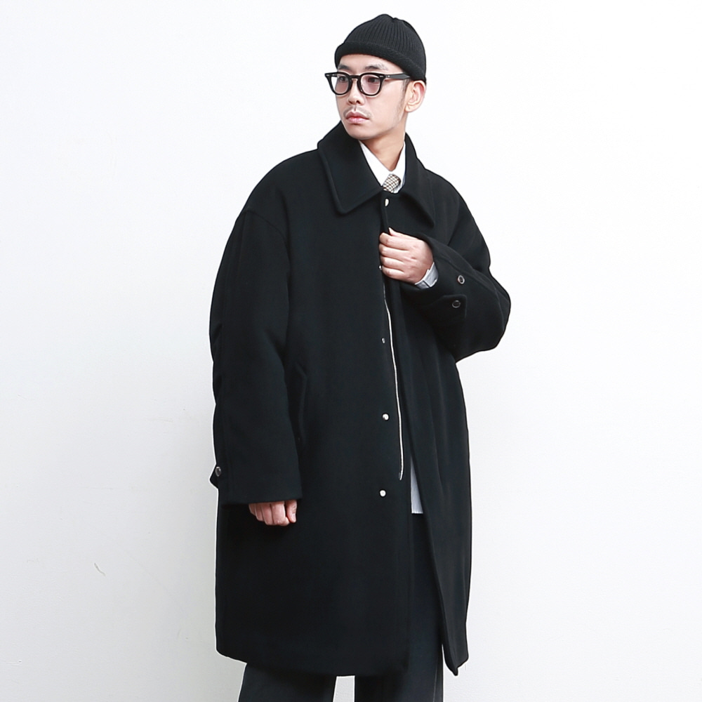 SECURITY M-51 WOOL PADDING OVERSIZED COAT (3M THINSULATE) BLACK