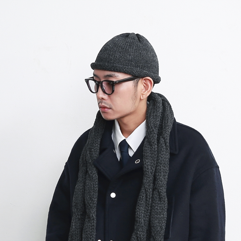 DAILY INN X HIGHLAND 2000 ROLL-UP BEANIE (Charcoal)