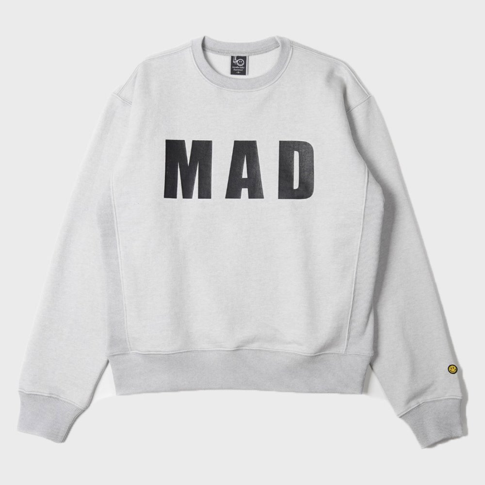 LOCALS ONLY MAD Sweat Shirts (Melange Grey)