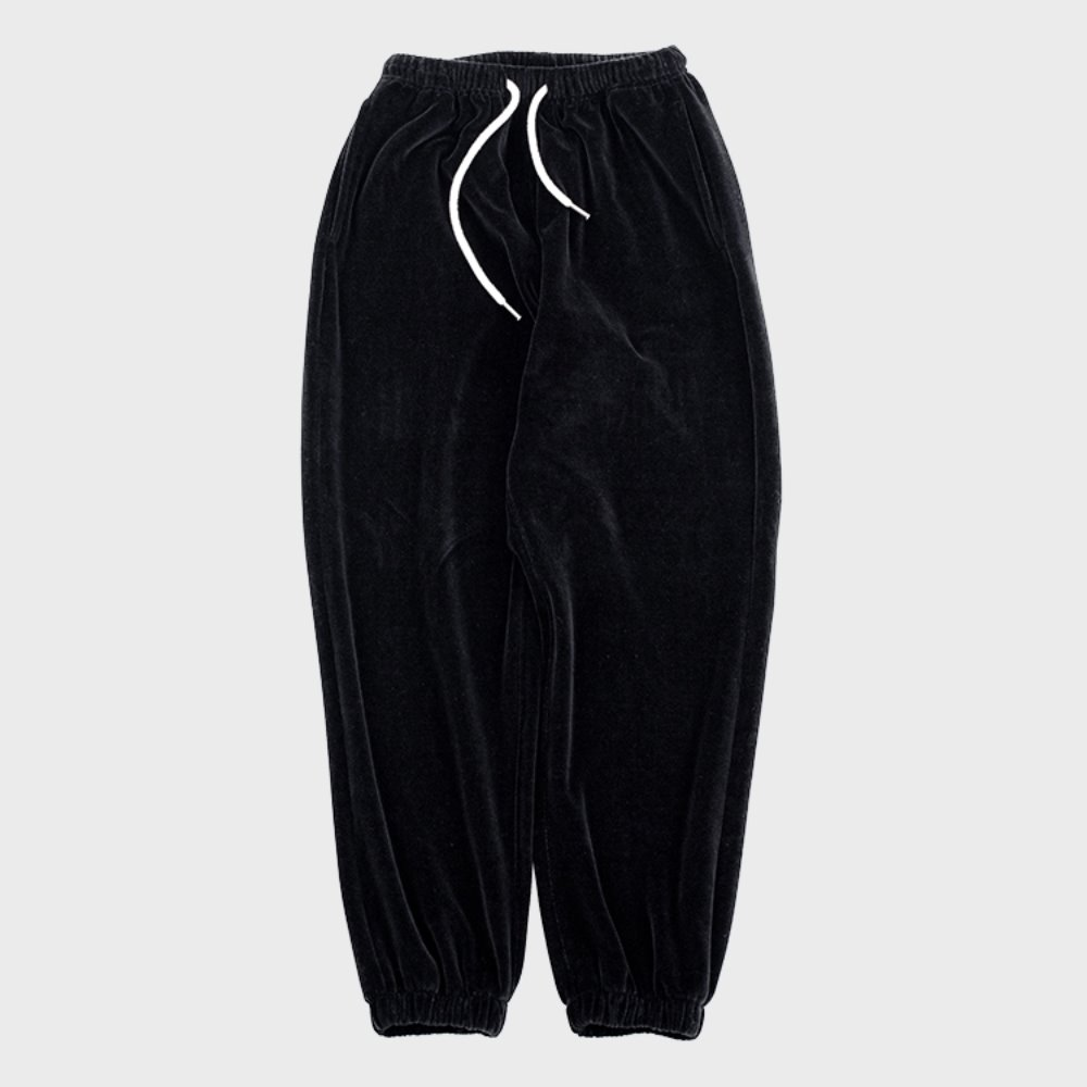 Velour Pants (Black)
