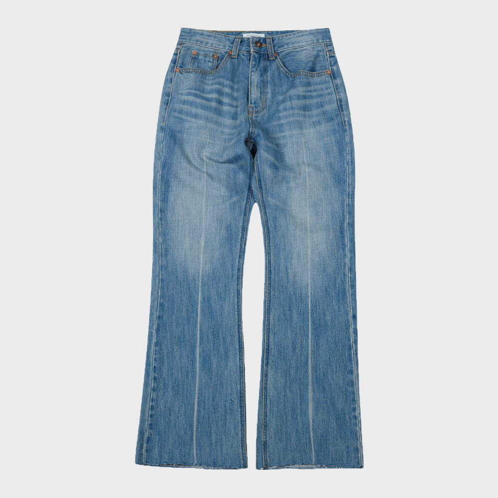 Washed Denim Pants