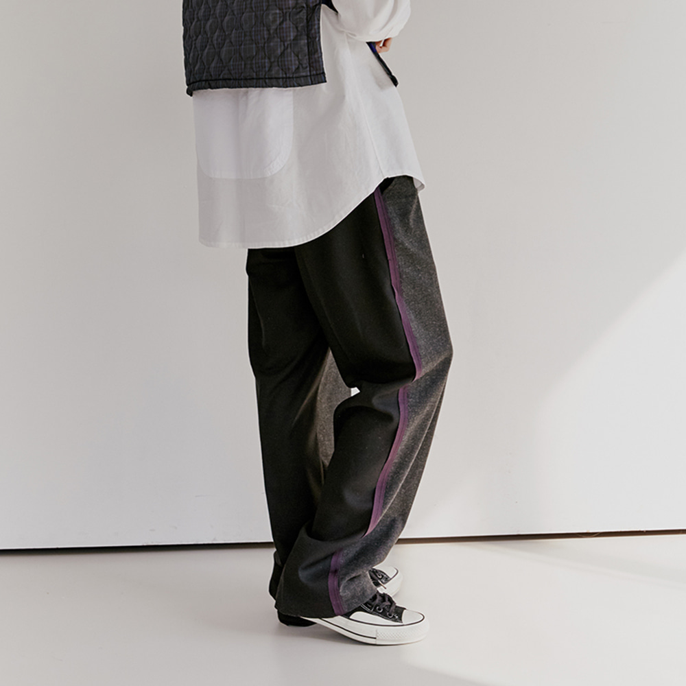 Buckle Wool Slacks