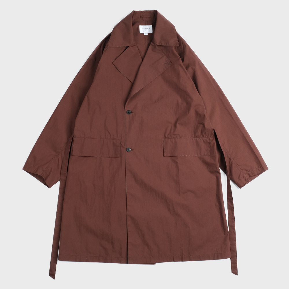 Raglan Trench Coat (Mahogany) - CO01201OS