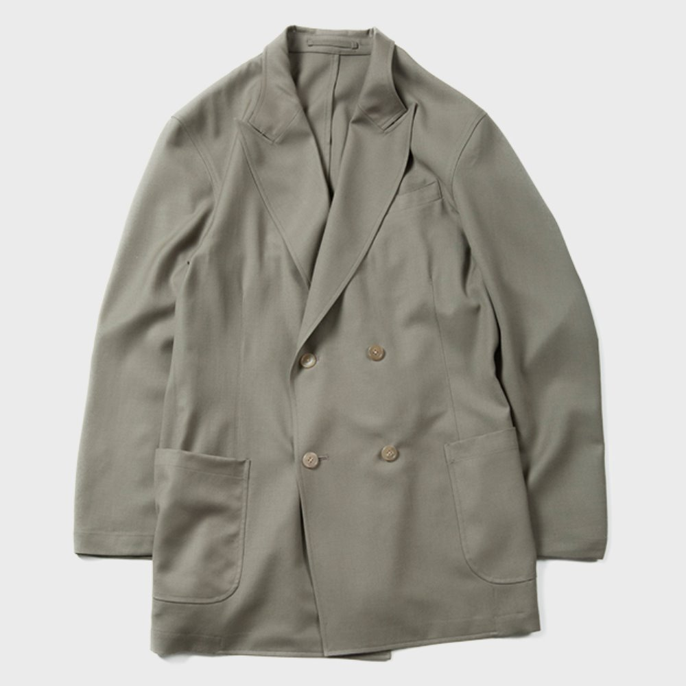 Utility Double Breasted Jacket (Olive)
