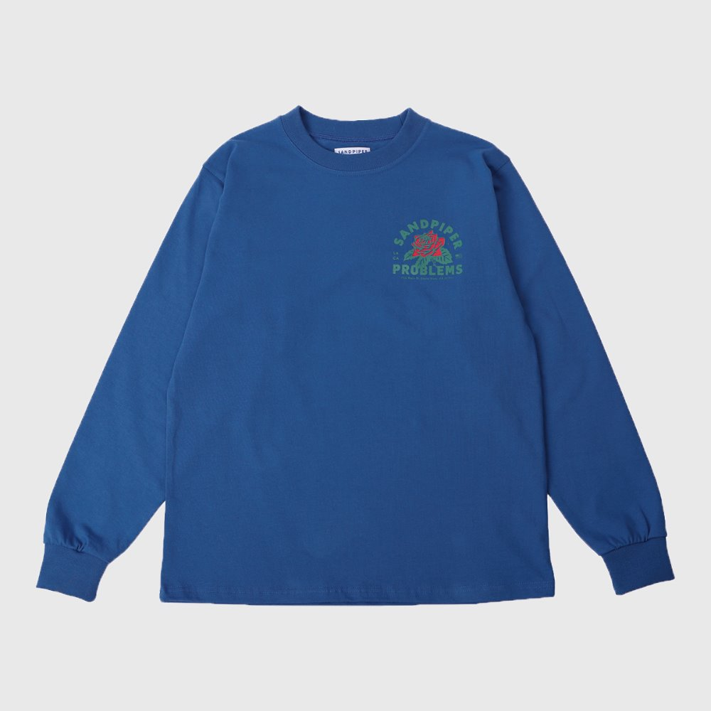LA`S Rose L/S T Shirts (Blue)