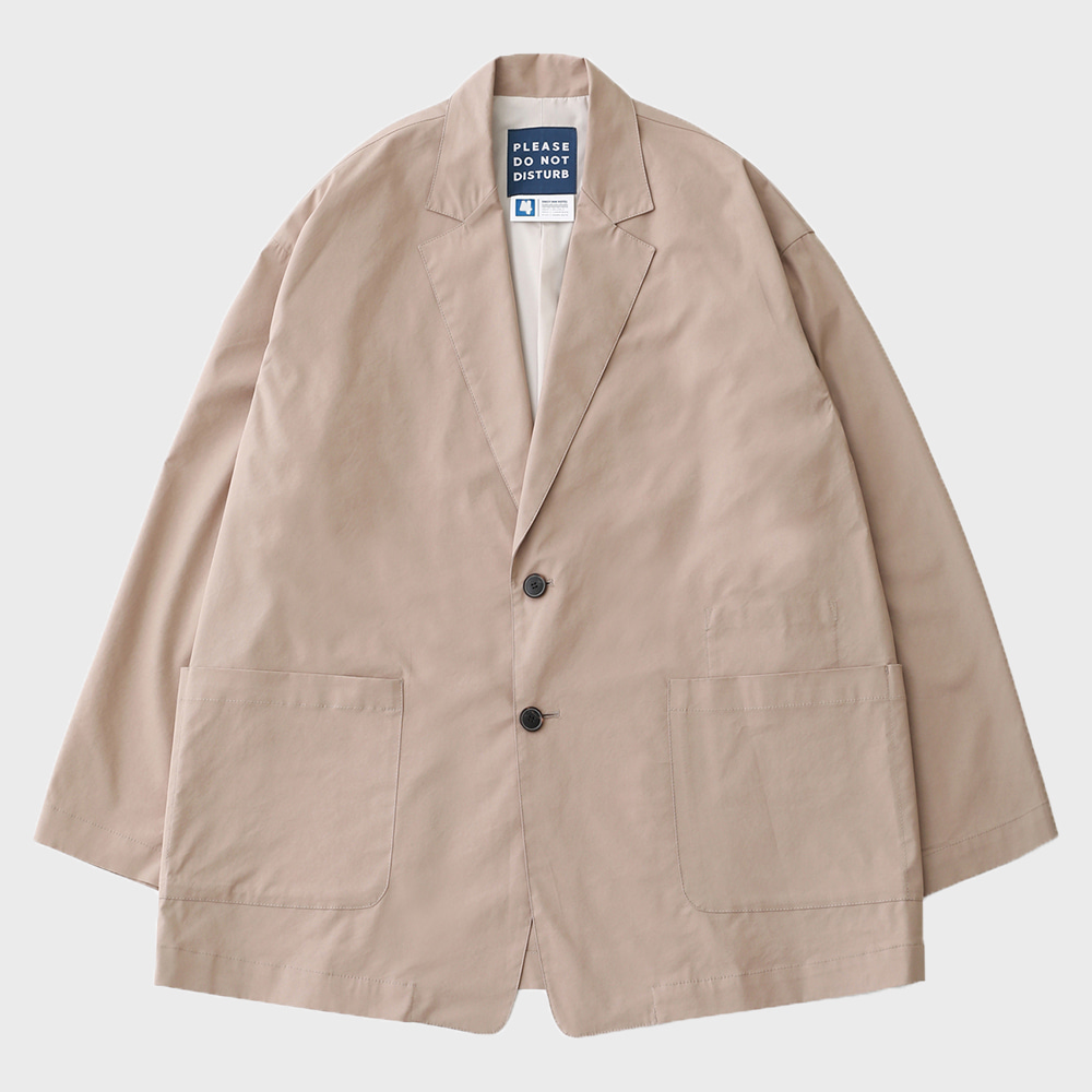 Reception 2B Oversized Set-Up Easy JAcket (Light Beige)