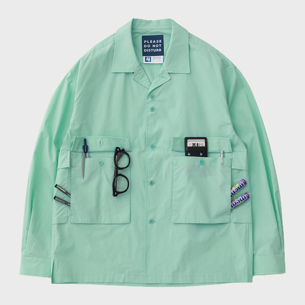 Housekeeper Oversized 5Pocket Shirts (Mint)