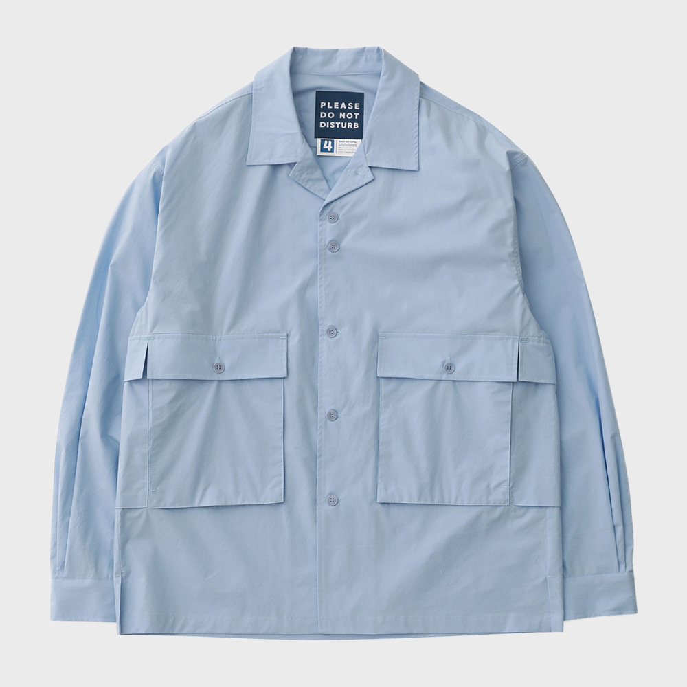 Housekeeper Oversized 5Pocket Shirts (Hawaiian Blue)