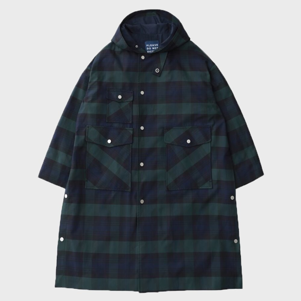 Door Man Uniform Oversized Hood Coat (B.Watch Check)