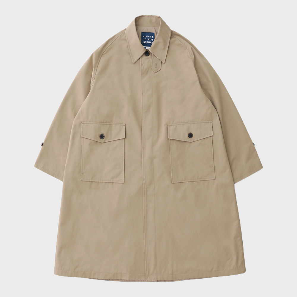 Reception Uniform Oversized Balmacaan Coat (Beige)