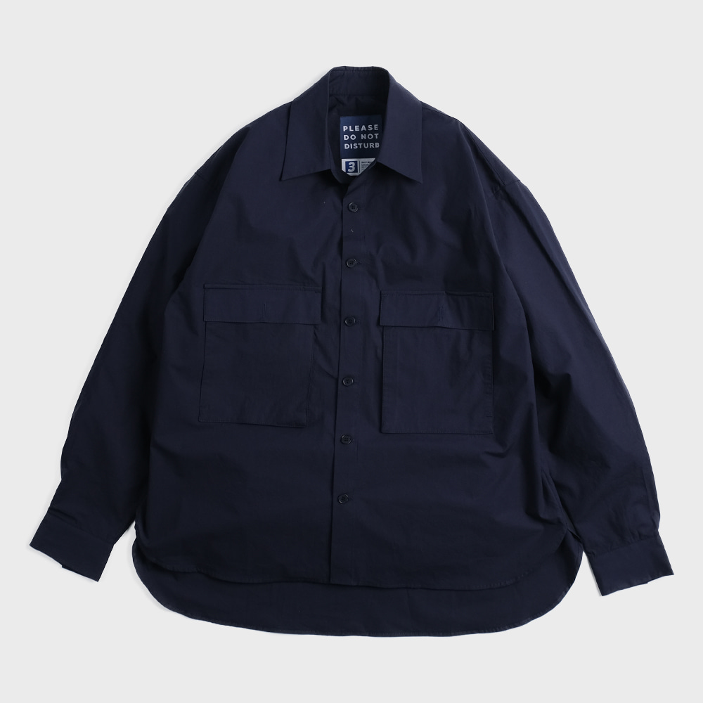 Oversiezed 2 Pocket Shirts (Navy)