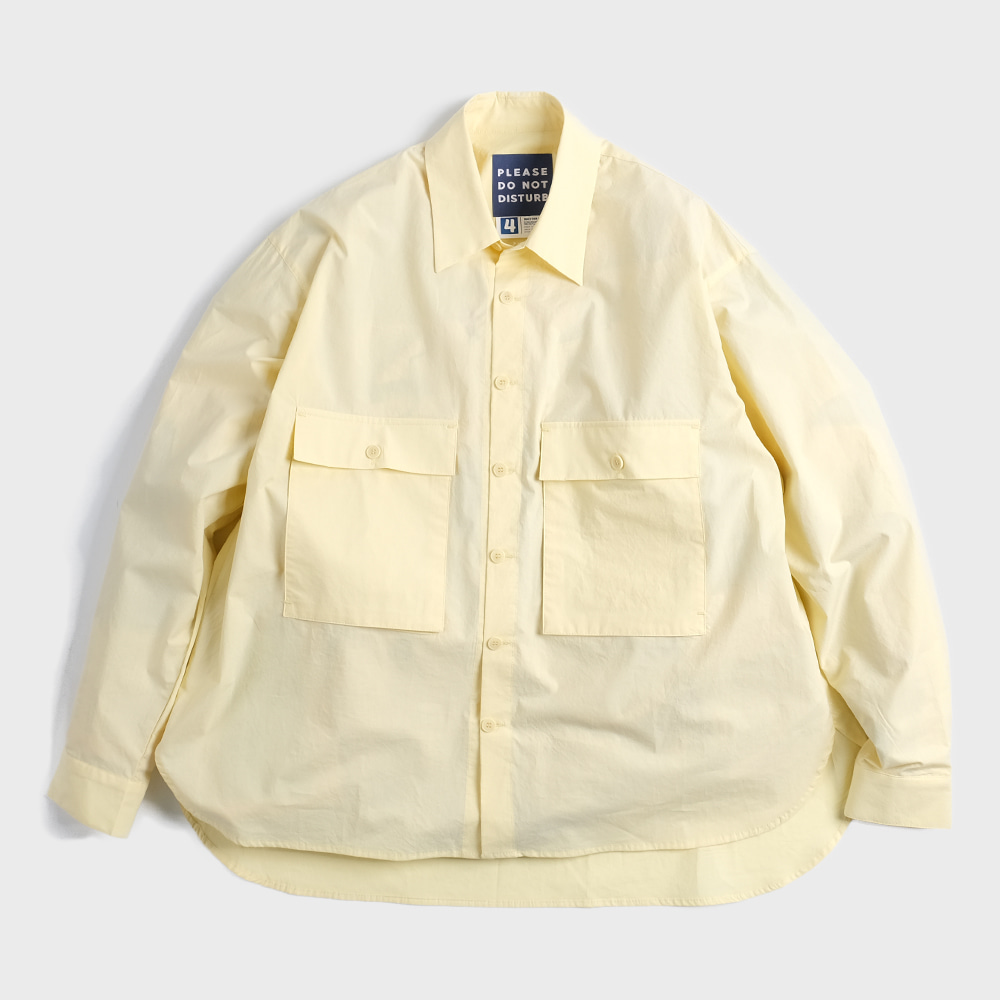 Oversiezed 2 Pocket Shirts (Light Lemon)
